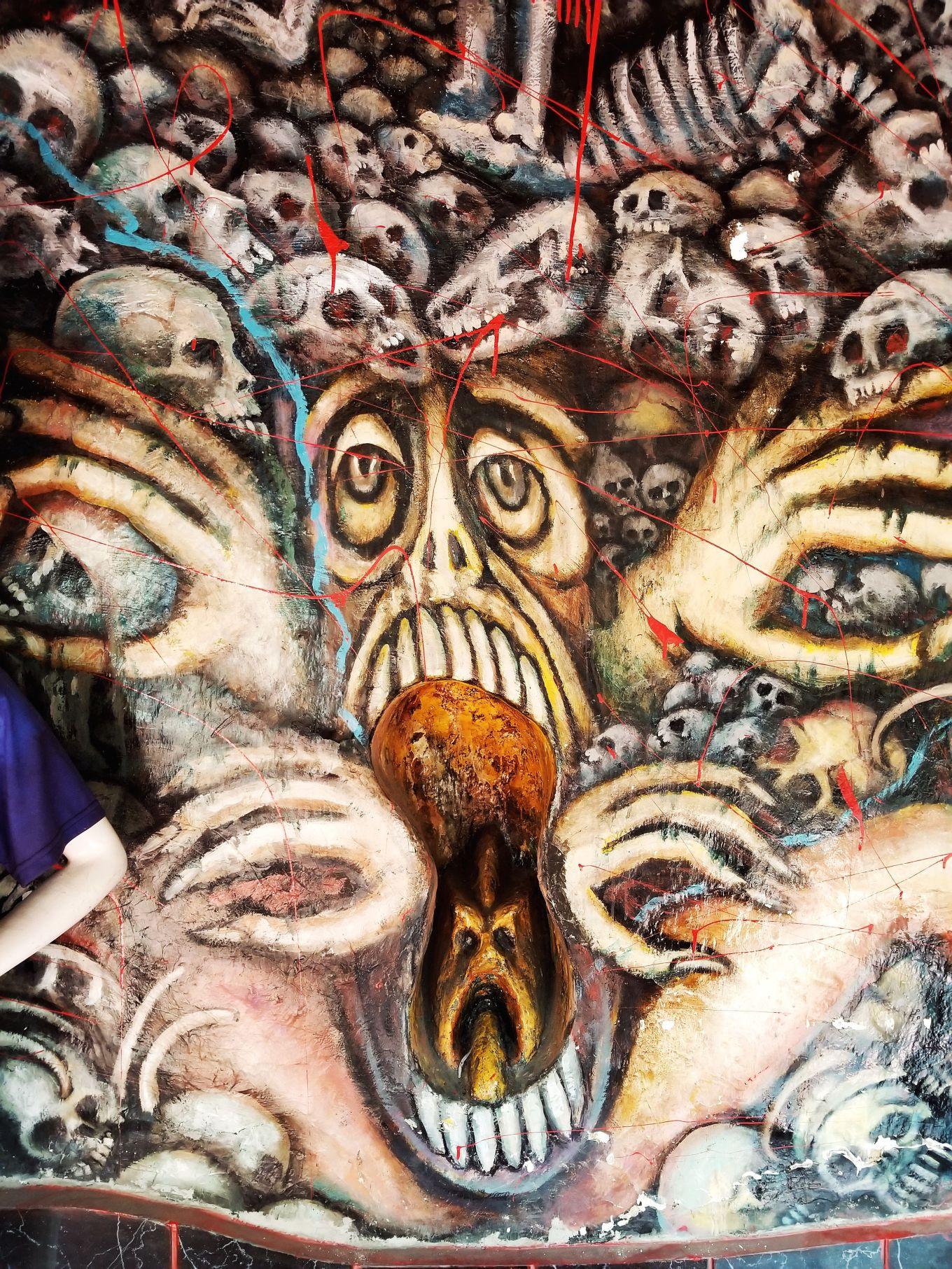 Mouth Mural In El Museo De Cultura Prohibida In Cuenca, Ecuador