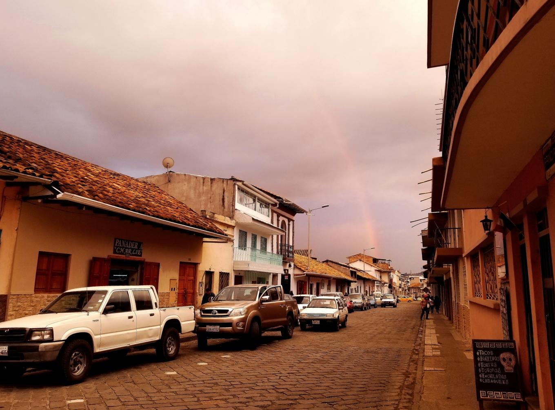 Sunshower Rainbow, Cuenca, Ecuador