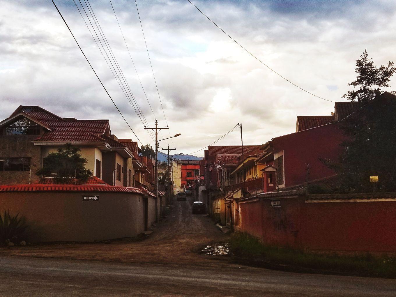 An alleyway in Cuenca, Ecuador