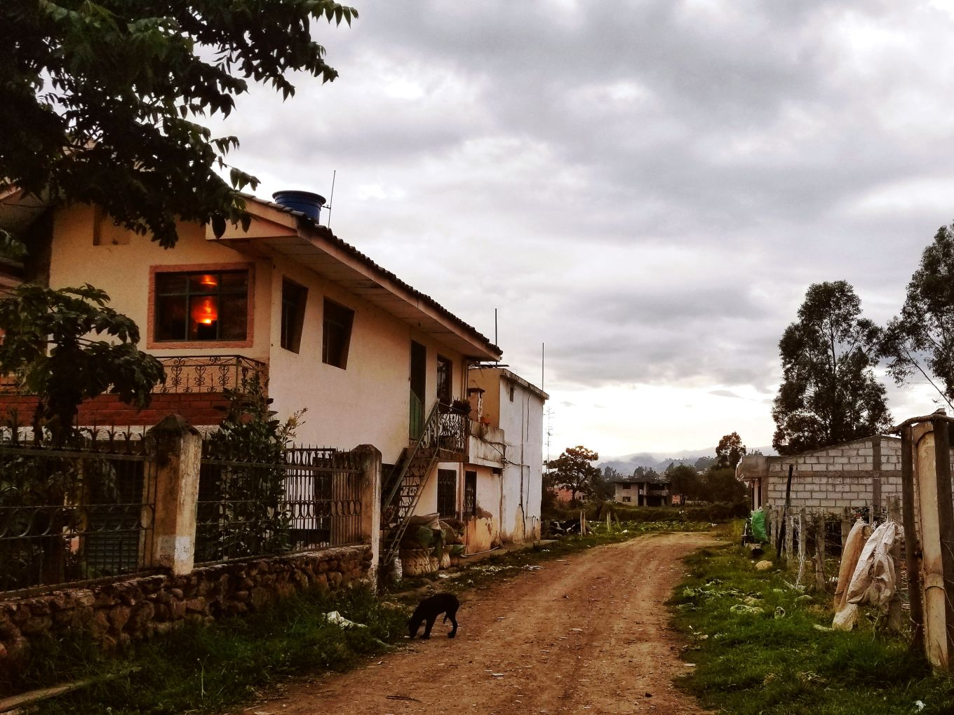 A backroad in Cuenca, Ecuador