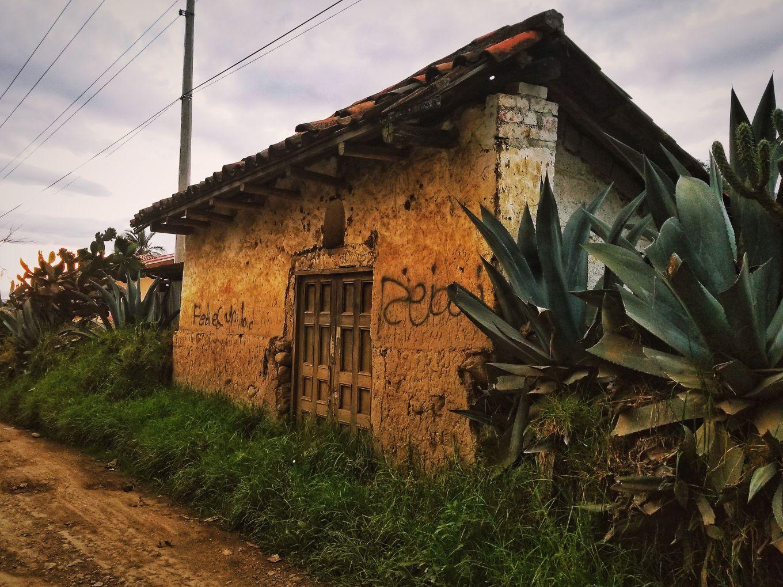 An old house in Cuenca, Ecuador