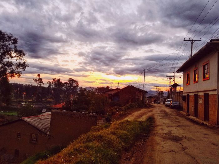 Sunset in Cuenca, Ecuador