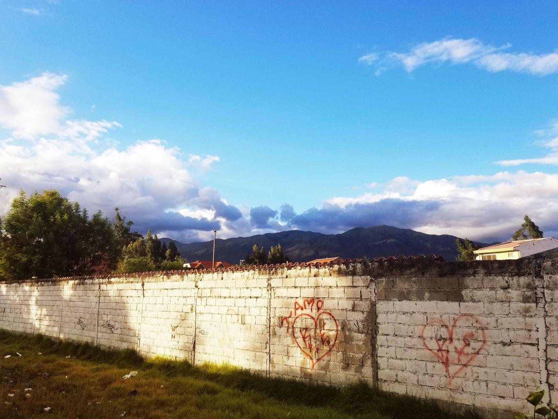 Brick Wall, Cuenca, Ecuador.