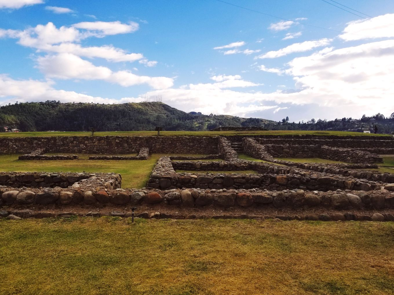 The ruins at Pumapongo Archaeological Park