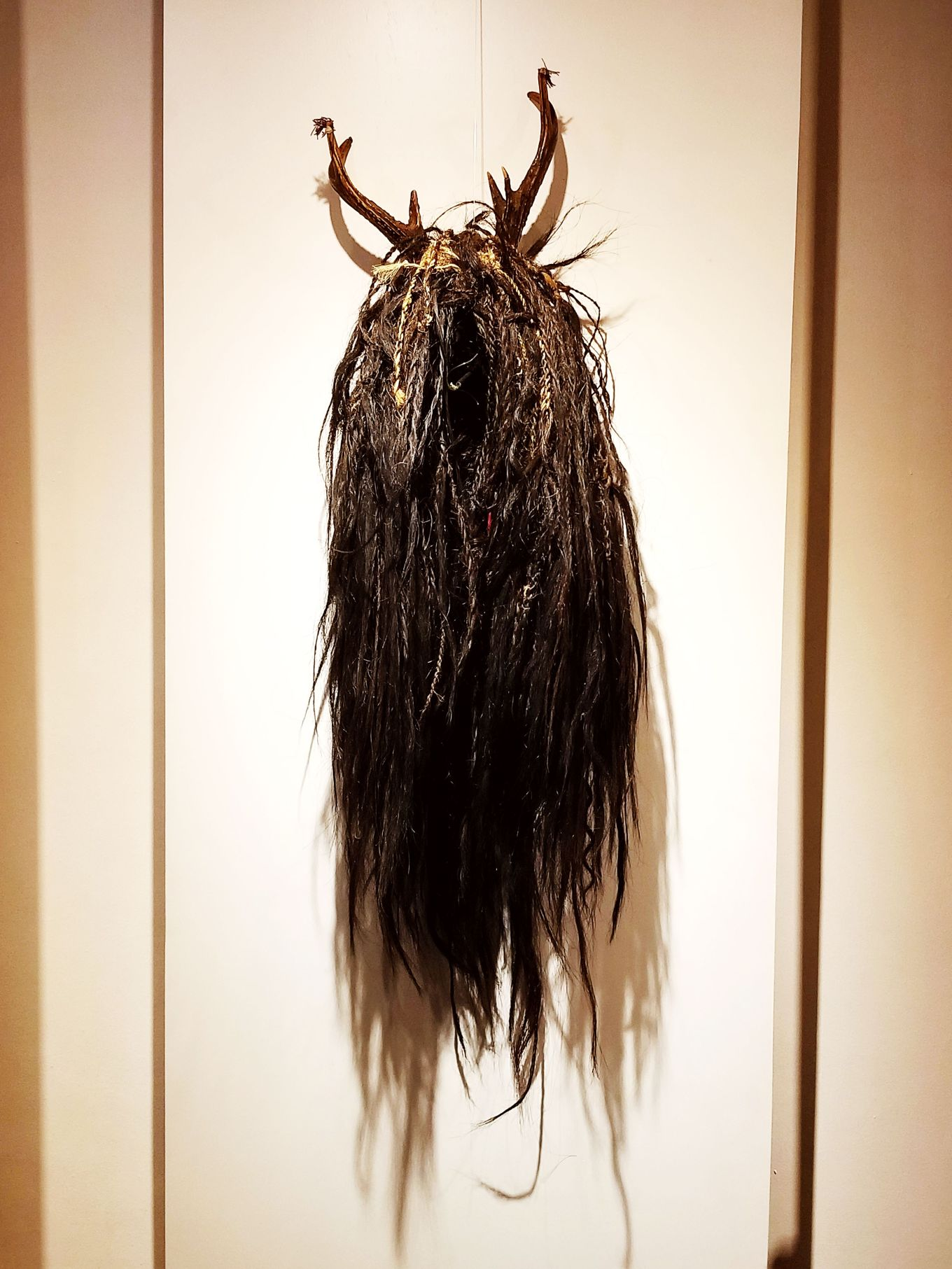 Wig with antlers, Museo Pumapongo