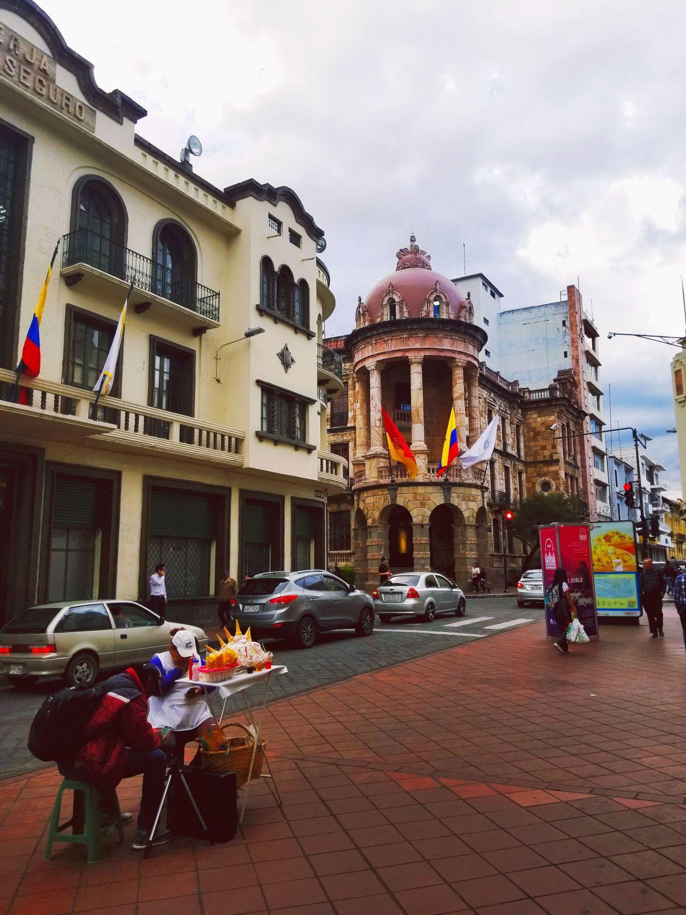 Colonial architecture in the Centro Histórico, Cuenca, Ecuador
