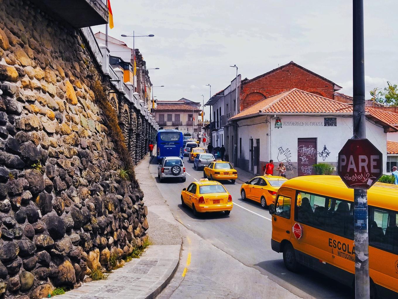 Rush hour in Cuenca, Ecuador