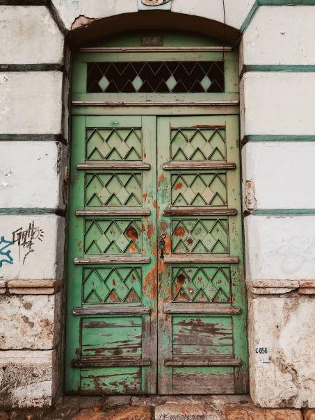 Carved Wooden Doorway, Cuenca, Ecuador