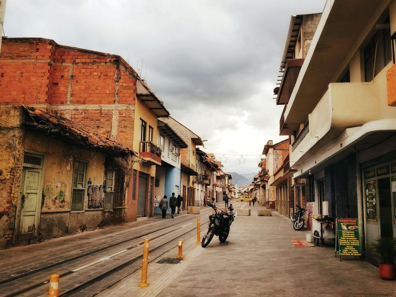 Quiet streets of Cuenca, Ecuador