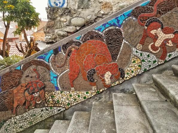 Bull Mosaic in Cuenca, Ecuador