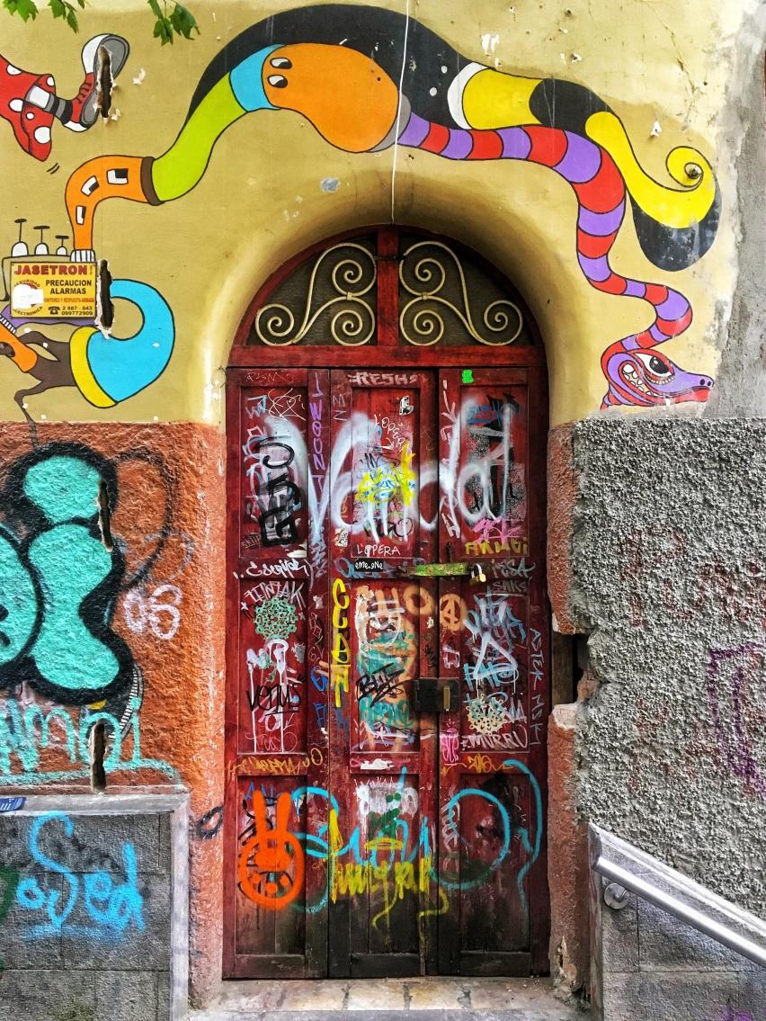 Doorway Graffiti, Cuenca, Ecuador