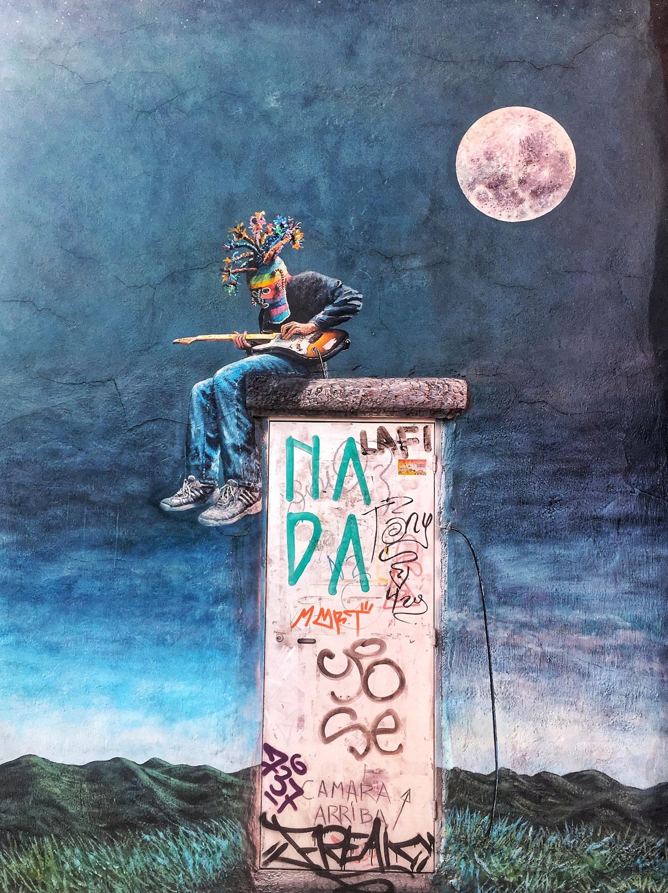 Guitarist Mural in Cuenca, Ecuador