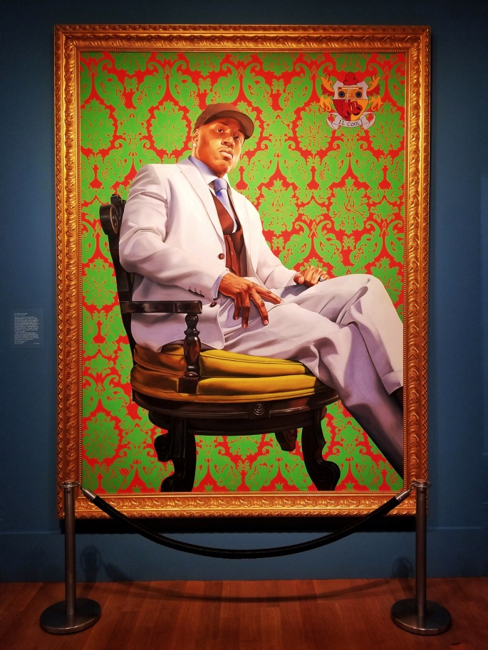 A portrait of LL Cool J at the National Portrait Gallery in Washington, D.C.