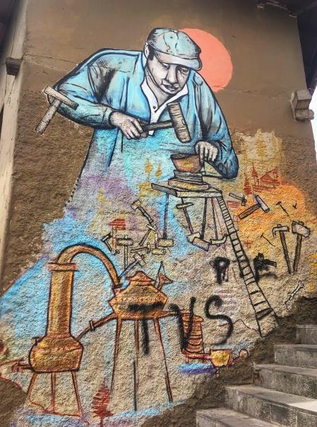 Metal Artisan Mural, Cuenca Ecuador