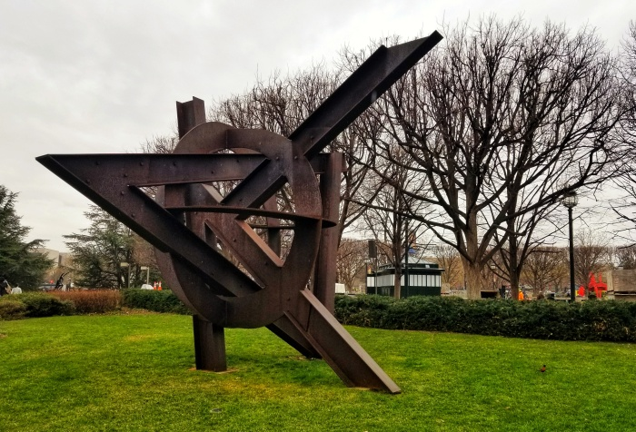Aurora; Mark di Suvero. National Sculpture Garden, Washington, D.C.