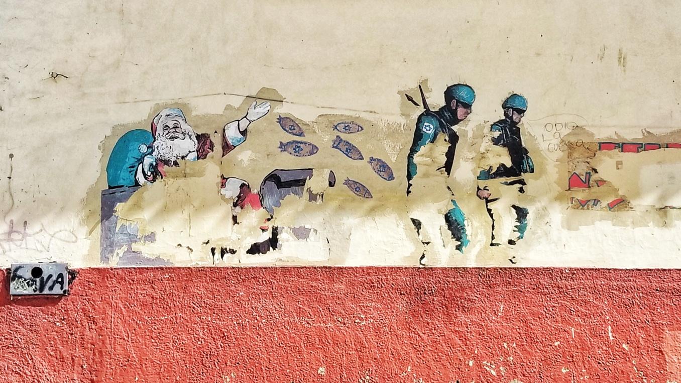 Odio Wheatpaste, Cuenca, Ecuador