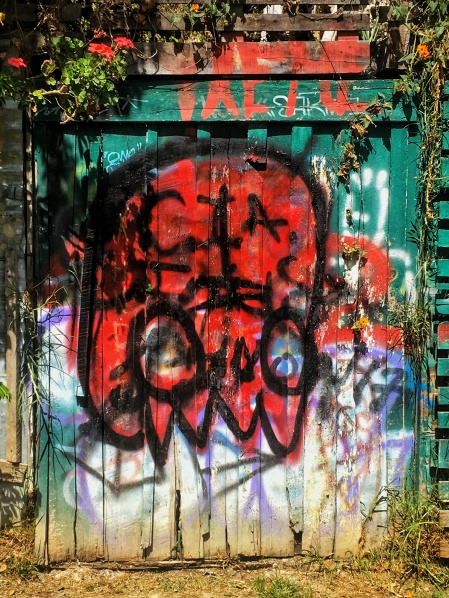 Red Ghost Graffiti, Cuenca, Ecuador