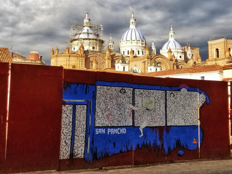 Mural in Cuenca, Ecuador